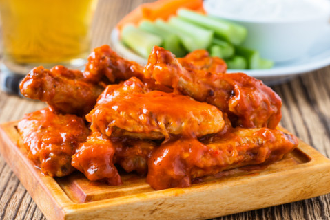 hot and spicy honey wings