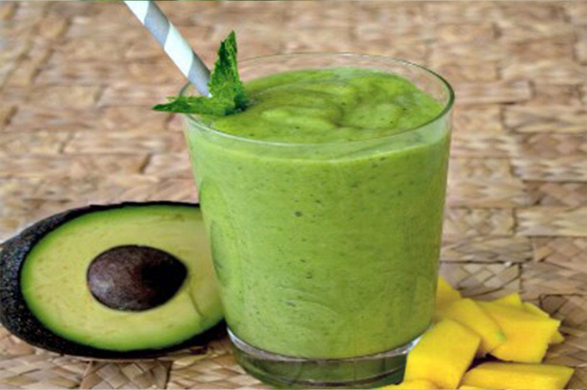 Mango Avocado Green Smoothie - Aseda Raw Honey
